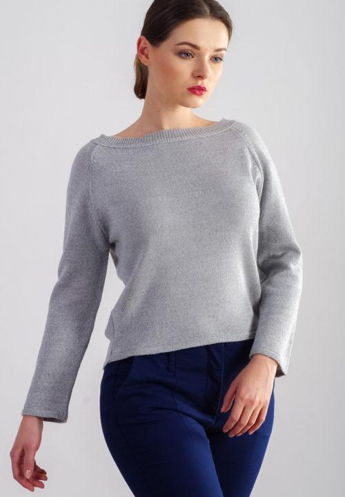 beeanddonkey sweter basic krótki popielaty bee&donkey