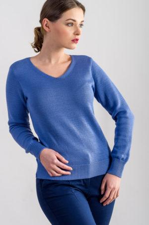beeanddonkey sweter z dekoltem niebieski