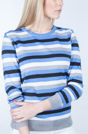 Sweter w pasy niebieski