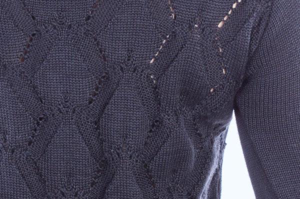 Sweter z wzorem na plecach czarny