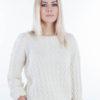 Sweter wzorzysty ecru