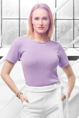 bluzka fioletowa krótki rękaw beeanddonkey