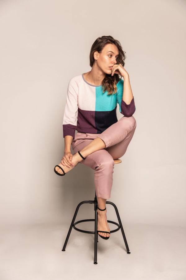 bluzka kolorowa bee and donkey knitwear