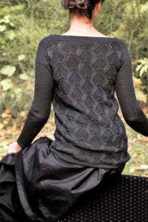 sweter wzorzysty czarny beeanddonkey