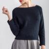 Sweter basic krótki granatowy
