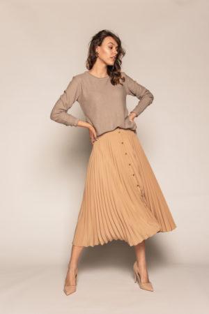 bluzka bee and donkey włókno bambusowe kolor beżowy