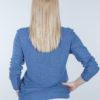 Bluzka bambusowa z długim rękawem niebieska