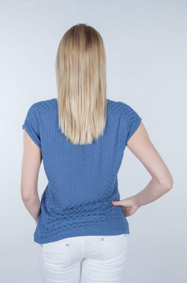 Bluzka bambusowa z krótkim rękawem niebieska