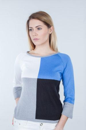 Bluzka 4 kolory niebiesko/czarna