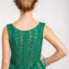 Ażurowa bluzka na ramiączkach zieleń
