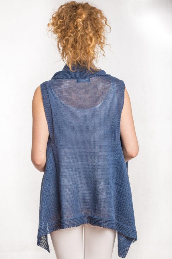Kamizela krótka - niebieska