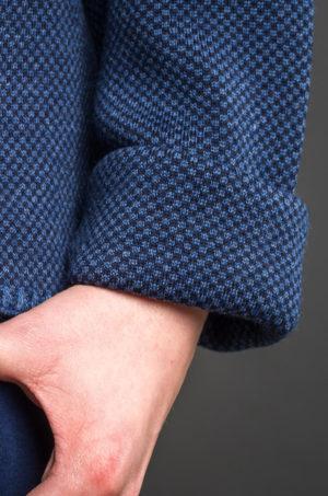 Kardigan krótki niebiesko - granatowy