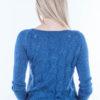 Sweter z wzorem na plecach morski