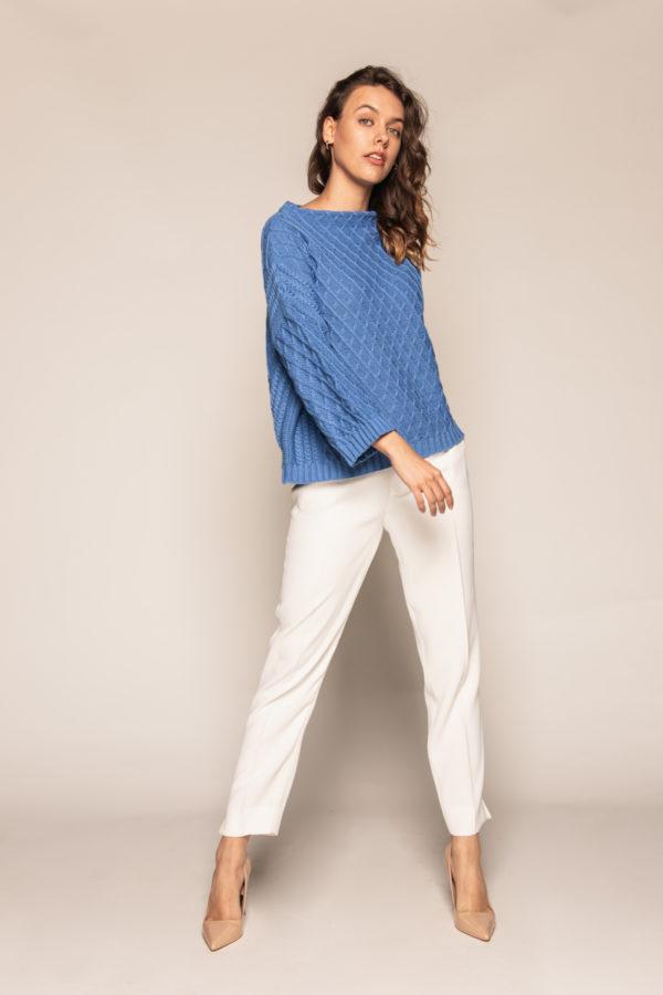 sweter półgolf beeanddonkey niebieski półgolf