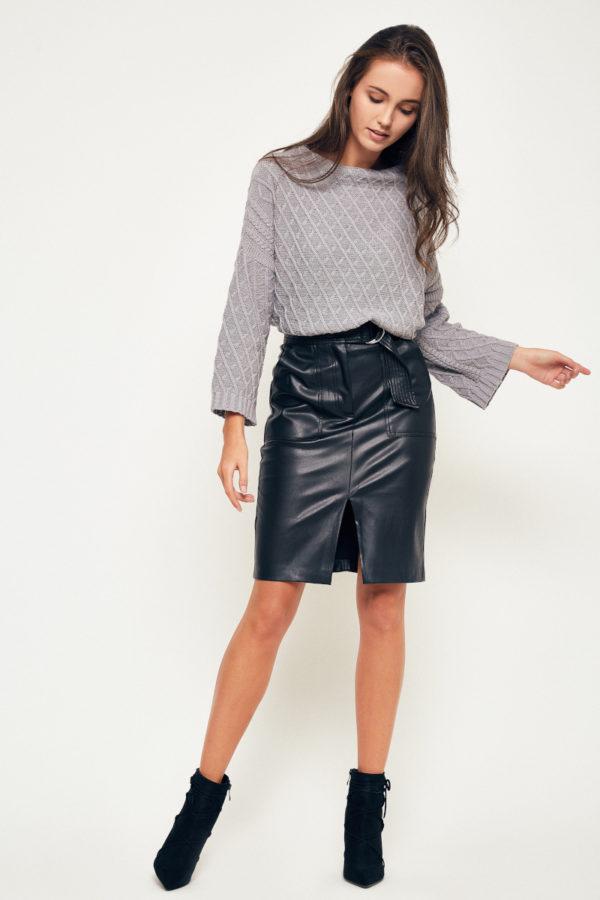 Sweter półgolf marki BEE & DONKEY Knitwear. Dzianina.